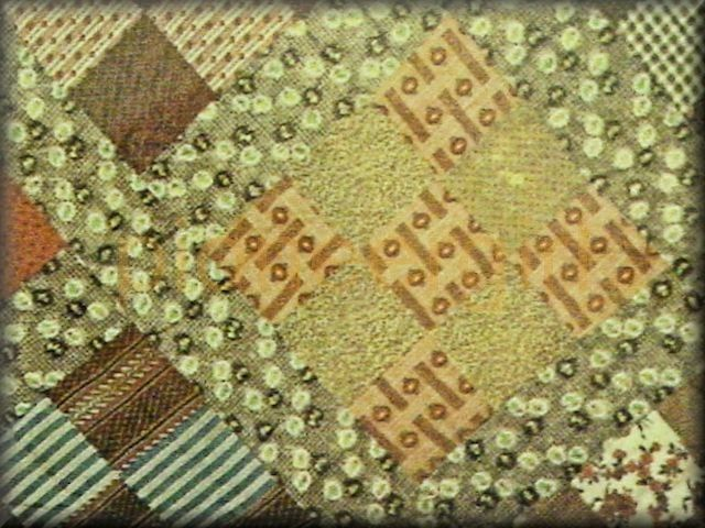nine-patch / Laura's double nine-patch Irish chain quilt